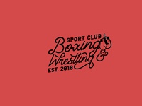 Boxing club vector design logo