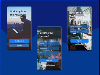 Mobile App Login Page work design ui design mobile ui