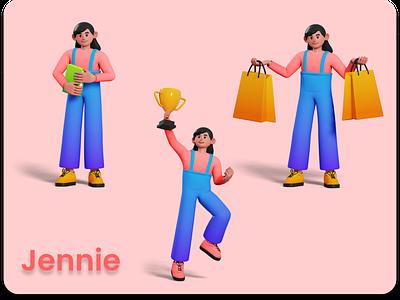 3D Character - Jennie art illustration design characters character 3d animation 3d art 3d