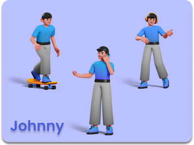 3D Character - Johnny illustration characters character 3d animation 3d art 3d