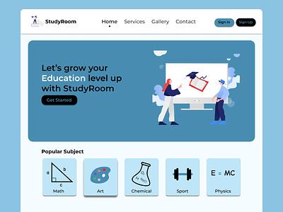 StudyRoom icon logo characters character ux illustration ui design web web design webdesign website