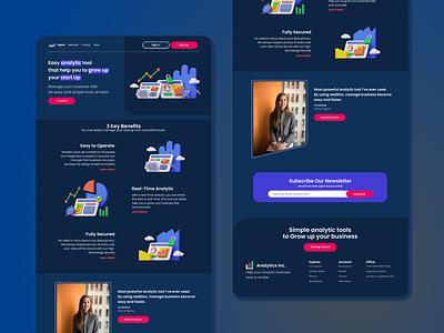 Business Analytic Web App app 3d art 3d animation business web ux illustration 3d design uiux design uiux ui