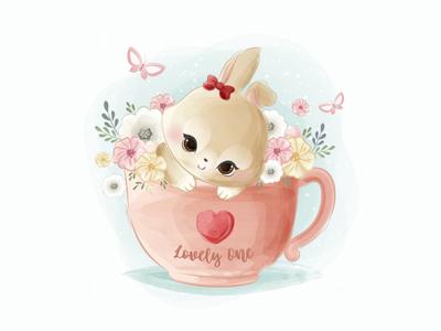 lovely coffee illustration