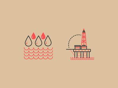 oil company illustration