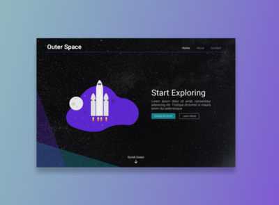 Outer Space simple design ui design web design figma