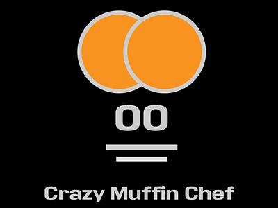 The Crazy Muffin Chef inspiration fun icon typography illustrator art illustration design