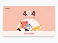 404 Page illustration website web ux ui minimal flat design