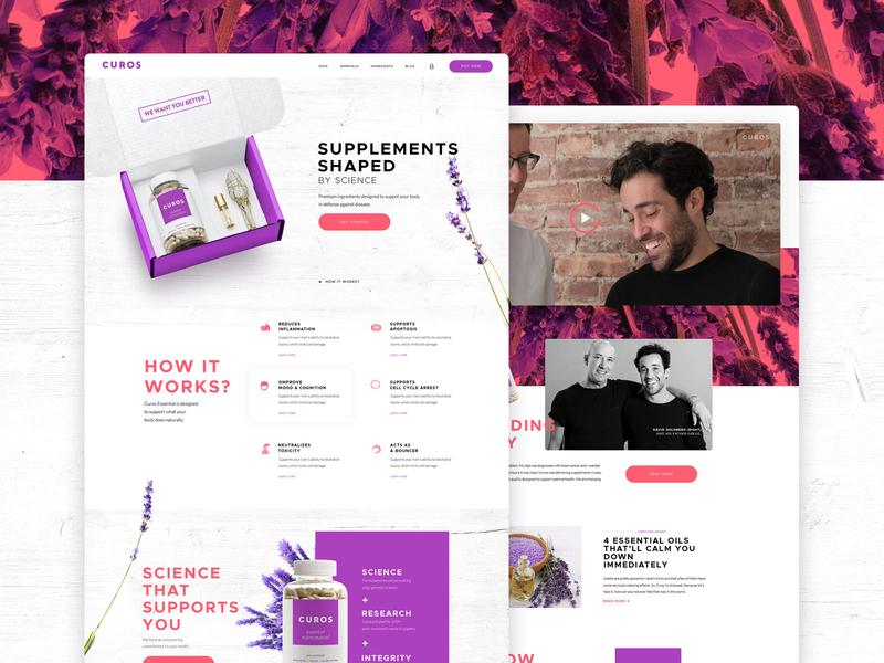 Landing page for Nutrition Supplement bold violet clean vensko supplement nutrition shop ui ecommerce website web design