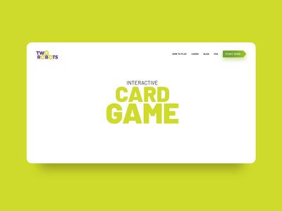 Landing page / concept for a card game fun creative vensko robots ui website game card webdesign landing page concept