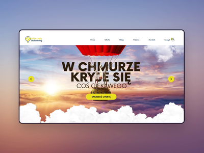 Hot air ballooning wiwi clouds animation sky air balloning ecommerce ui website web design