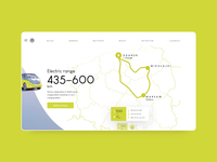 Volkswagen electric car website concept - Electric Range clean ui electric webdesign concept website car wiwi vw adobe xd