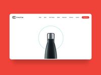 CrazyCap Bottle - website concept motion animation crazycap water bottle landing vensko ui web design website