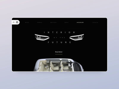 Volkswagen electric car Adobe XD concept - part 2 adobexd animation luxury website landing ux minimal vensko wiwi motion web design ui car electric