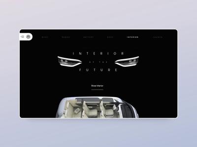Volkswagen electric car Adobe XD concept - part 2 adobexd animation luxury website landing ux minimal vensko wiwi motion web design ui car electric