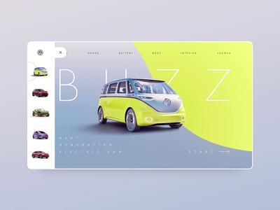 Volkswagen electric car Adobe XD concept - part 1 adobexd luxury animation motion car electric volkswagen wiwi vensko ui web design website