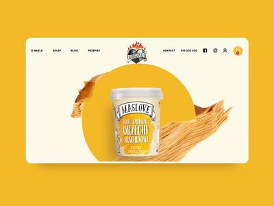 Maslove - Peanut Butter branding vensko animation shop ecommerce website adobexd motion ui wiwi webdesign landing peanutbutter maslove