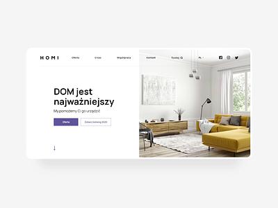 HOMI furniture website design home furniture clean shop ecommerce ui web design website