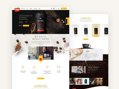 Sido - website for Polish coffee maker animation webdesign dark luxury shop ecommerce website coffee ui