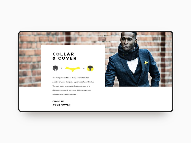 Hovding - airbag for cyclists luxury ui branding vensko minimal white airbag bike ecommerce clean website web design hovding