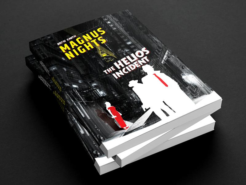Book cover for a sci-fi noir novel vensko street black graphic design mafia dark gangster noir cover