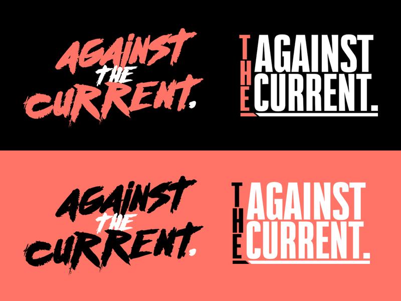 AgainstTheCurrent ReBrand Project. lettering type illustrator minimal vector flat design typography logo branding
