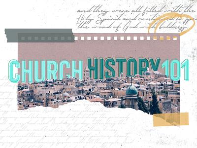 Church History 101 branding promotional design poster design