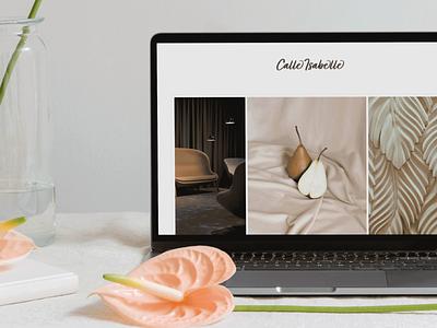 High-end Interior Design Website website design interior design logo luxury branding logo design high-end branding editorial branding design brand identity