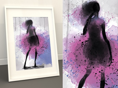 """Watercolor fashion"" by Masha Van for Intalence Art, Path 2 model watercolor illustration digital art fashion illustration vogue creative arts"