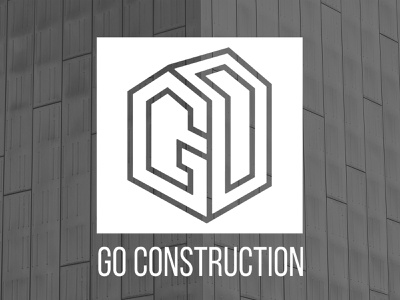 GO Construction vector graphic design idea brand house construction minimalism design