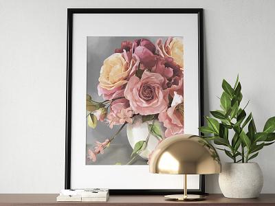 """Spring"" by Masha Van for Intalence Art painting flowers art digital illustration digital art illustration"