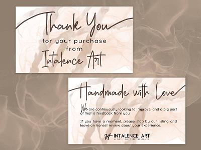 Development of insert for Intalence Art drawing idea advertising