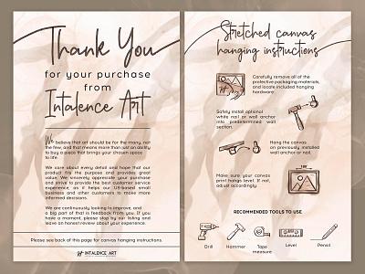 Development of inserts for Intalence Art advertising