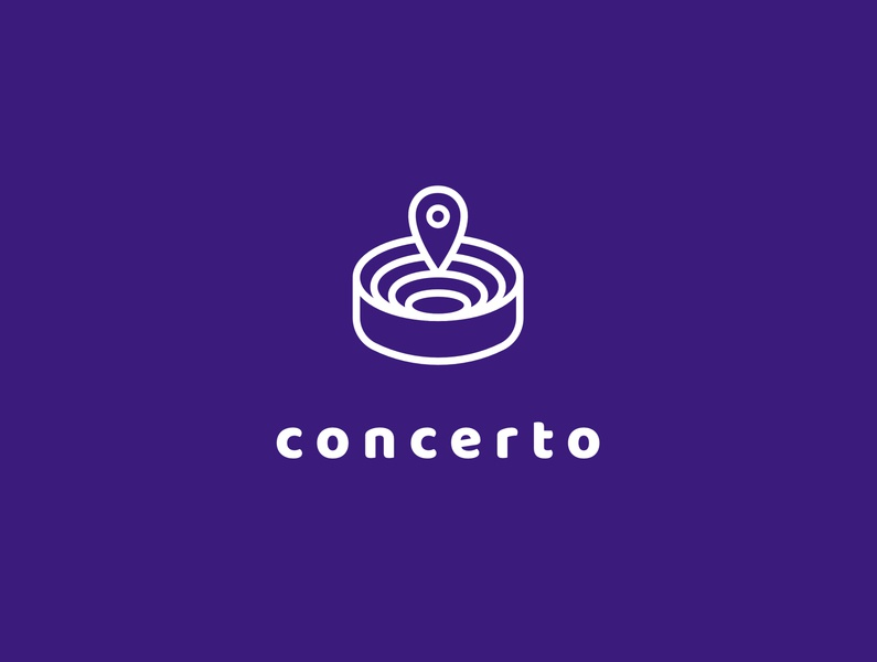 Concerto concerto app tickets concert typography logo design logotype logo design logocore challenge