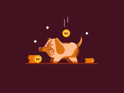 Doggy Bank for Animation doggybank piggybank animation after effects motion graphics motion design insideofmotion cute illustration colorful design after effects tutorial