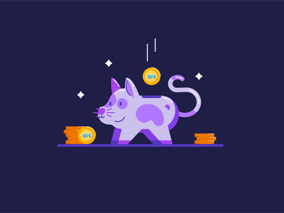 Catty Bank for Animation cattybank piggybank motion graphics motion design insideofmotion cute illustration colorful design animation after effects after effects tutorial