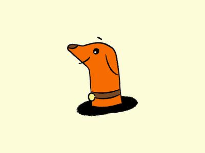Hi Doggy simple hi doggy sketch texture vector illustration dog