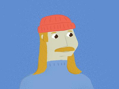 Not in Brisbane ginger beanie winter vector illustration