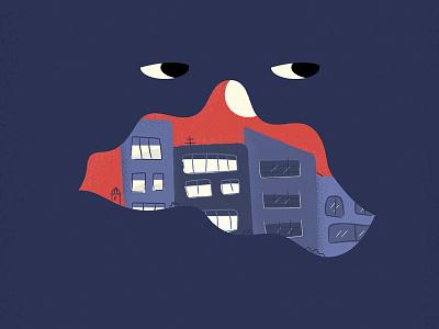 Night Mood vector illustration night illustration