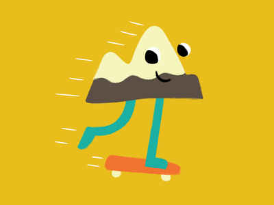 Skate Mountain mountain skateboarding vector illustration