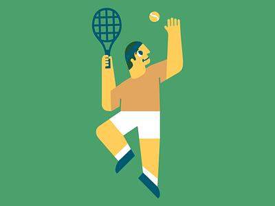 Aced illustration tennis australianopen vector illustration