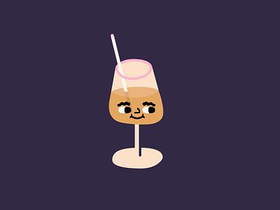 Hello Friday friday wine illustration vector illustration