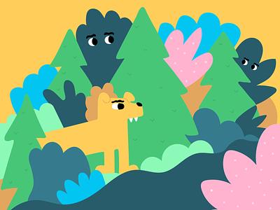 Woofy Walks woofyboy doggo outdoors illustration dog vector illustration
