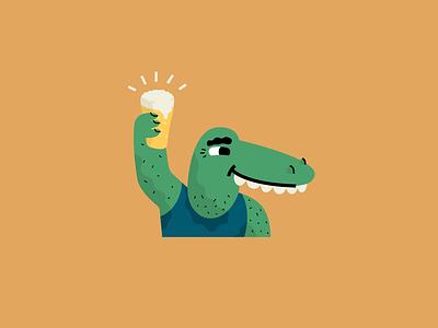 Crocodile Shin croc vector character illustration vector illustration
