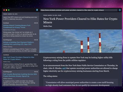 Tokeo - Cryptocurrency Desktop News App