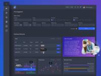 Dark Dashboard UI/UX Design