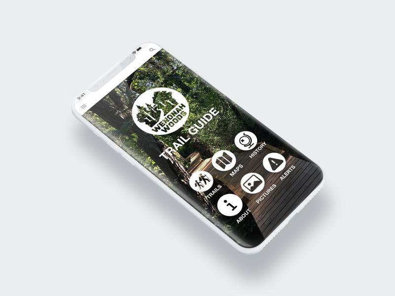Trail Guide Mobile App Design mobile app design illustration ux app icon typography ui branding logo design