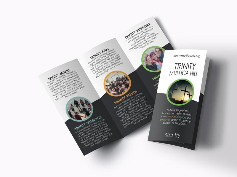 Church Brochure Design graphic design adobe indesign church marketing print design brochure mockup brochure design design logo branding