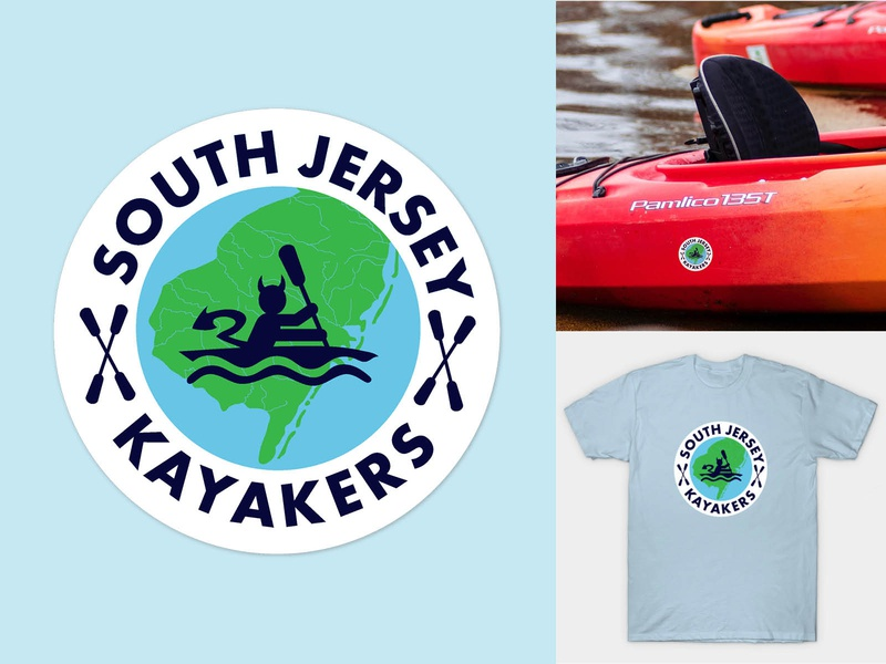 South Jersey Kayakers Logo Design tshirt design kayaking branding adobe indesign vector typography logo illustration adobe illustrator print design graphic design design