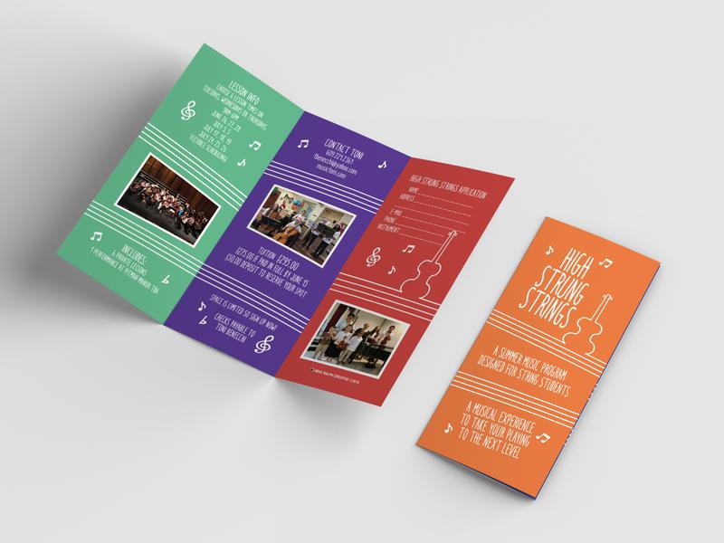 String Music Program Brochure Design mockup adobe photoshop string music music brochure brochure design branding adobe indesign vector typography logo illustration adobe illustrator print design graphic design design
