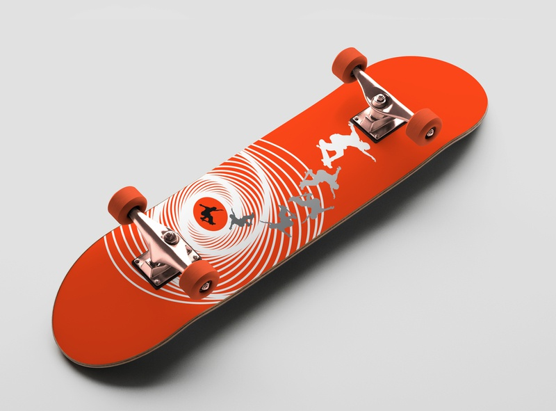 Vertigo Skateboard Art Design mockup skateboard design skateboard art alfred hitchcock vertigo skateboard adobe photoshop vector illustration adobe illustrator print design graphic design design